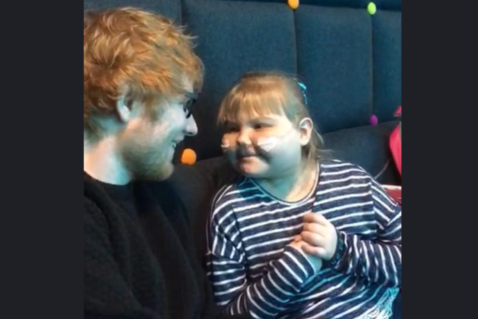 Mother credits Ed Sheeran for keeping her sick daughter alive