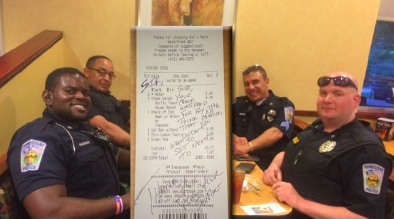 Cops Buy Couple's Dinner